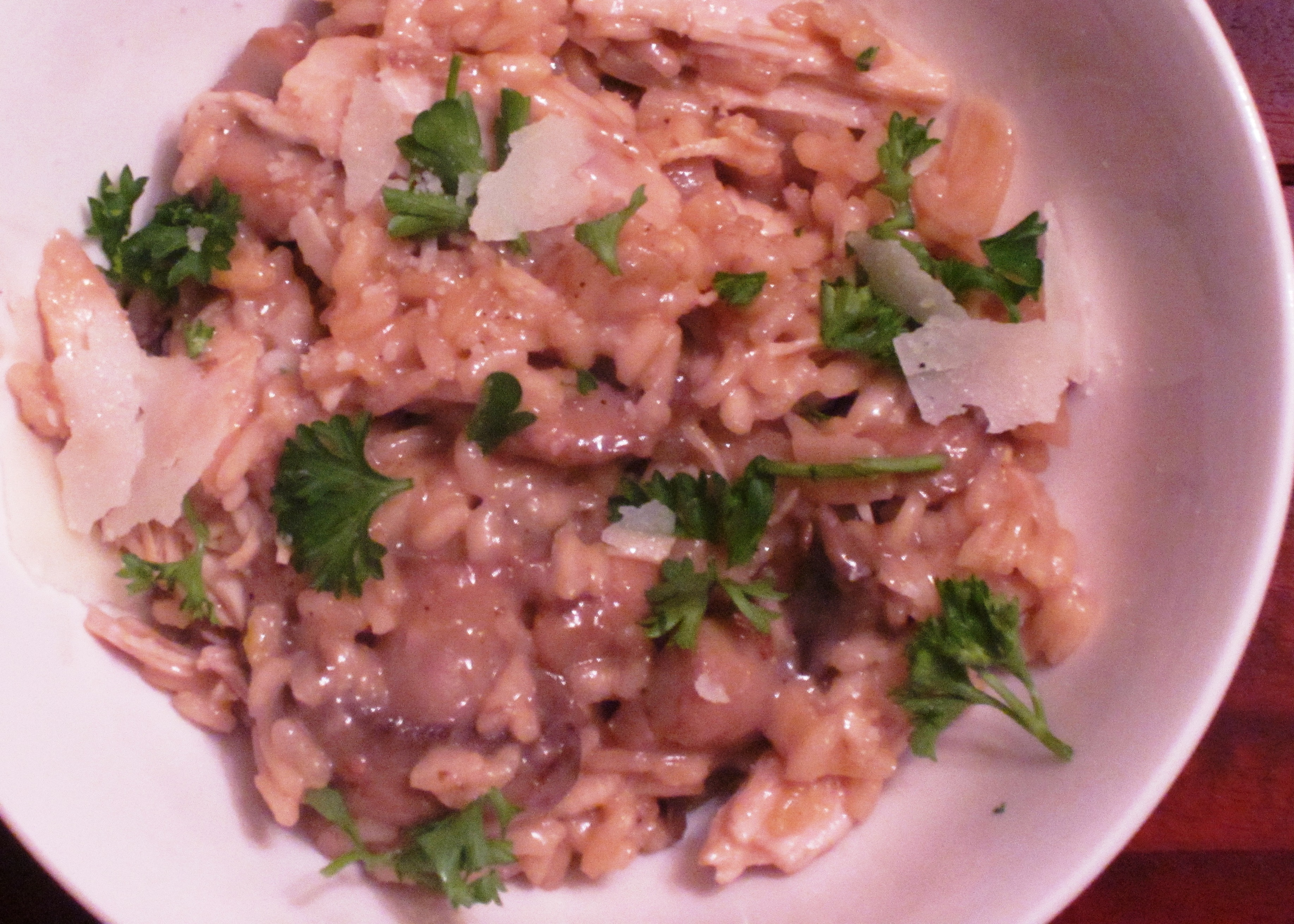 Turkey and Mushroom Risotto | red hair red wine
