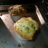 Spinach Artichoke Bacon Egg Souffles